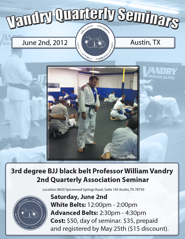 Vandry BJJ Quarterly Seminar